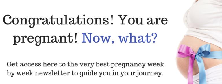 Congratulations! You are pregnant!